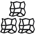 3 шт. в упаковке  неправильная форма для рукоделия  для мостовой дорожки  форма для изготовления кирпича  форма для бетонной дорожки  шаговые ...