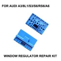 2x plastikowe klipsy dla AUDI A3 8L1 S3 S6 RS6 A6 elektryczny zestaw do naprawy regulatora okien 1996-2003 z przodu w lewo lub w prawo