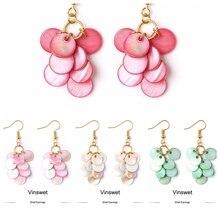 Women's Earrings Charm-Pendant Jewelry Wedding Gifts Freshwater-Shell Dangle Fashion