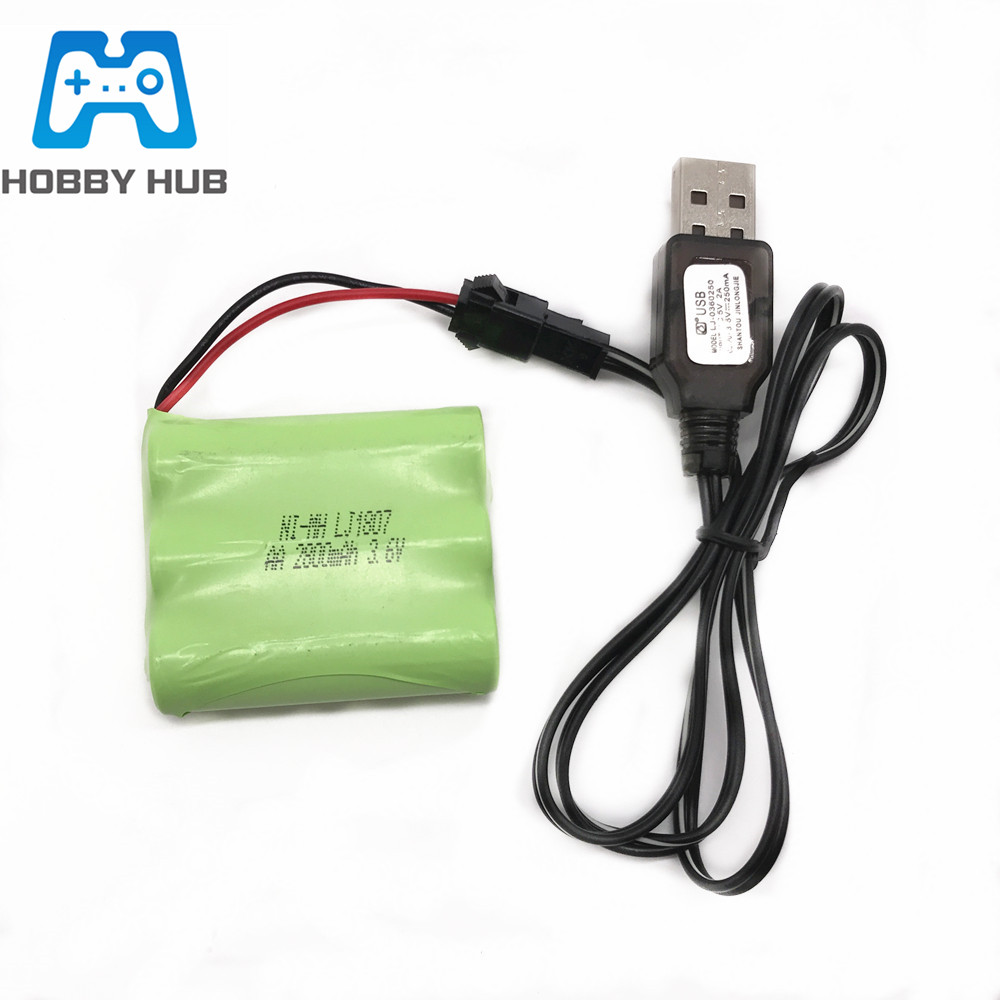 Electric toy car accessories battery pack 3.6V remote control car usb charging