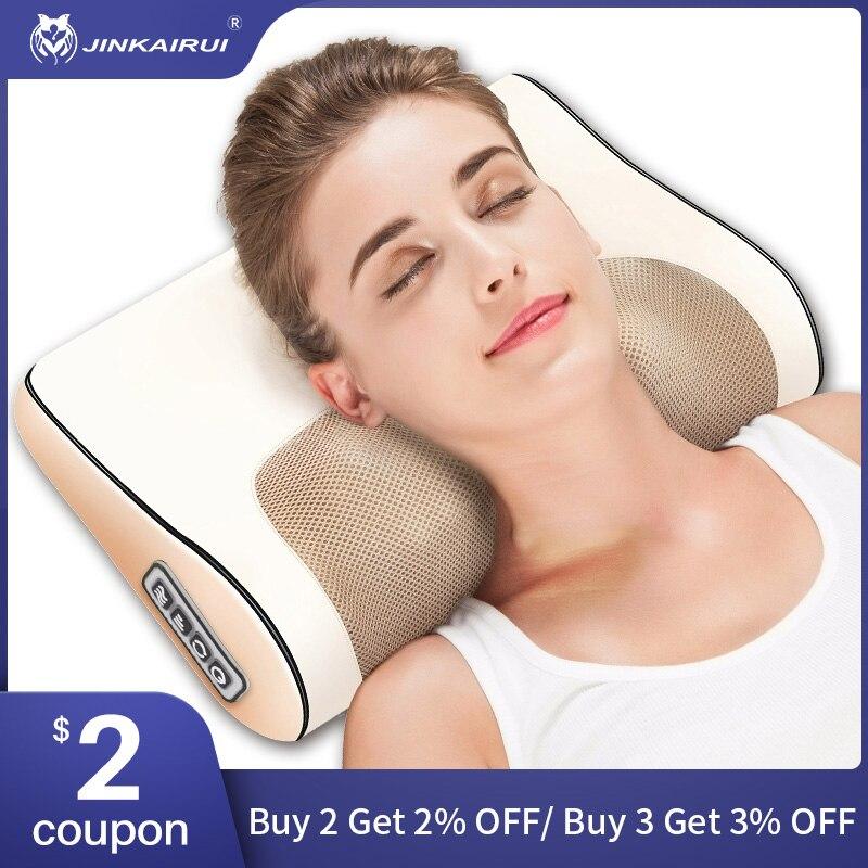 Nek Massager Cervicale Shiatsu Massage Kussen Elektrische Multifunctionele Massage Kussen Nek Schouder Body Ontspannen Apparaat|Massage Kussen|   - AliExpress
