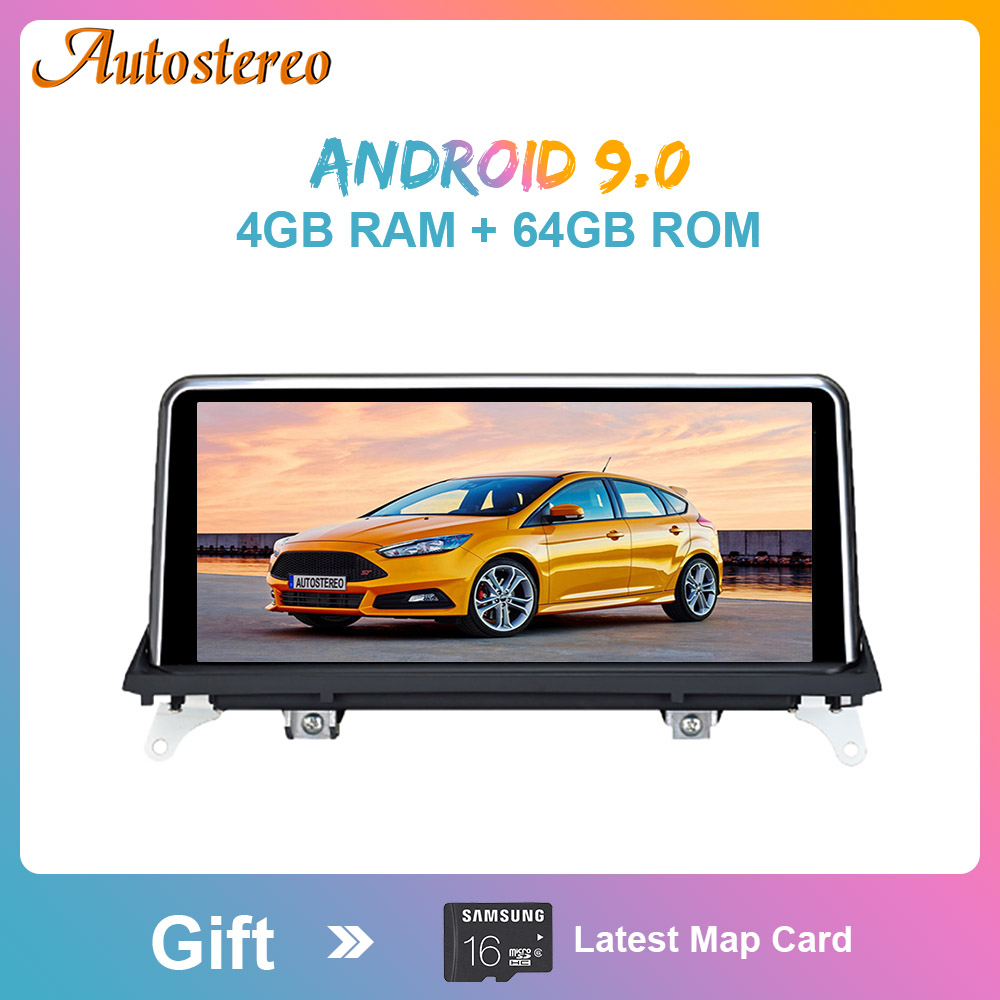 Android 9.0 4G+64GB Car GPS Navigation Multimedia Player For <font><b>BMW</b></font> X5 Series <font><b>E70</b></font> 2007-2013 Car Stereo Auto Radio Head Unit PX6 DSP image