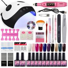 Manicure Set 36W UV LED Lamp Nail Dryer Nail Set Gel Nail Polish Set For Manicure Drill Machine Nail Kit Gel Varnish Tools Kit цена