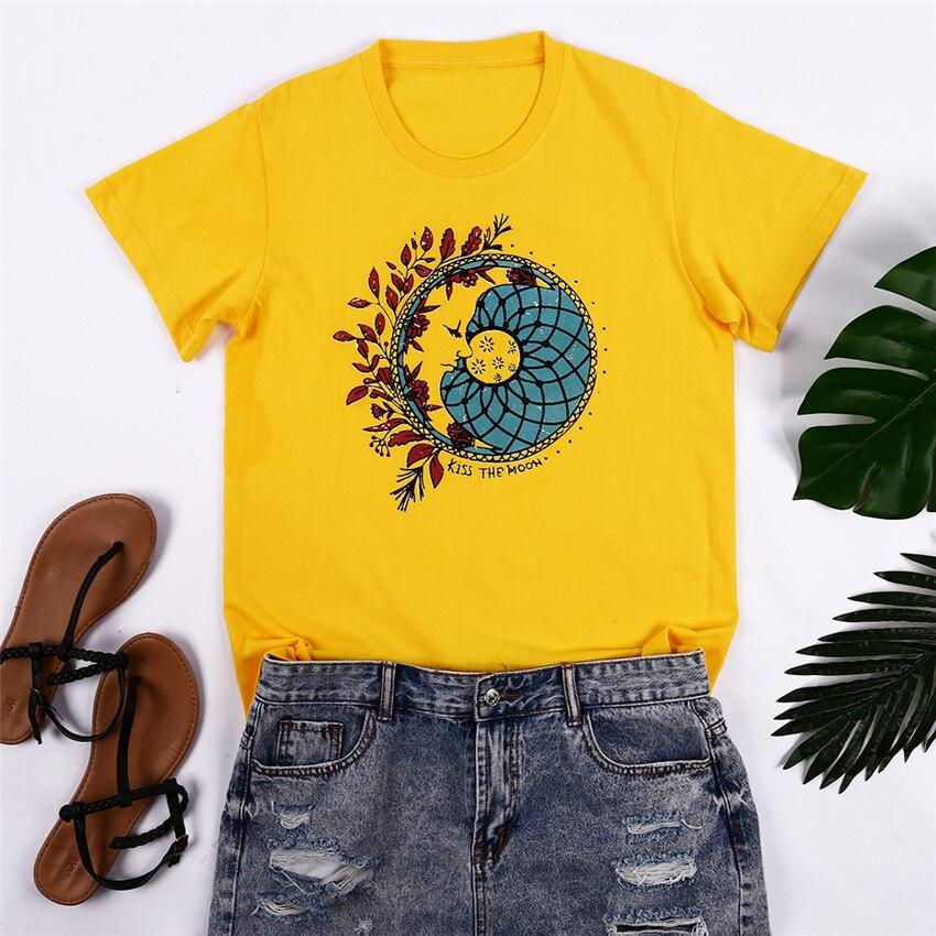 Yellow Short Sleeve Women Summer T-shirt 2020 New Harajuku Tshirt Haut Femme Women Clothes O-neck Tops Tee Casual Female Top 3XL