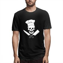 100% cotton Cooking Skull Hat Grill Master print casual mens o-neck t shirts fashion Mens Short Sleeve T-shirt