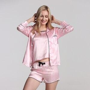 Image 2 - Bộ Đồ Ngủ Nữ Bộ Đồ Ngủ Lụa Nữ 7 Món Đồ Ngủ Mùa Đông Gợi Cảm Pijamas Nữ Mềm Ngọt Dễ Thương VÁY NGỦ Pyjama Set