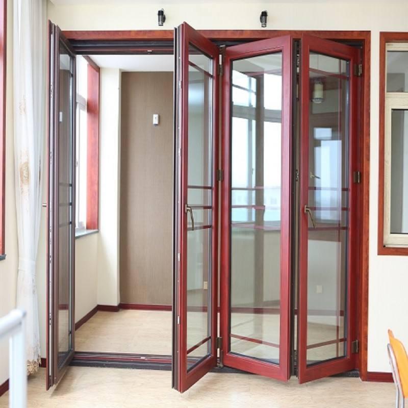Hench China Wooden Aluminum Doors Windows  Bi-folding Doors Wholesale Factory Hc-a16