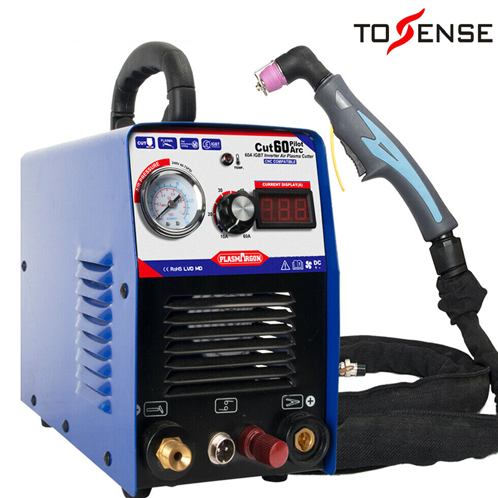 60A IGBT Air Plasma Cutter Machine CNC Compatible- Pilot Arc Power UP 1-18mm With Free Accessories