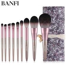 9PCs/set Makeup Brushes Set For Face Powder Contour Blusher Liquid Cream Eyeshadow Women