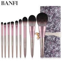 9pcs/set Makeup Brushes Set For Powder Contour Blusher Liquid Cream Eyeshadow Cosmetics tools