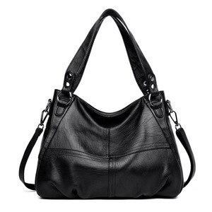 Image 1 - Sac à main en cuir véritable pour femmes, grand fourre tout de styliste, sac à bandoulière de luxe, sac de marque célèbre, 2019