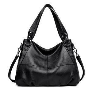 Image 1 - Womens Genuine Leather Handbag Large Leather Designer Big Tote Bags for Women 2019 Luxury Shoulder Bag Famous Brand Handbags