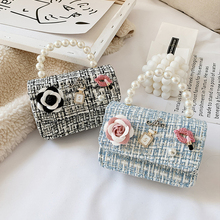 Korean Style Kids Mini Purses and Handbags 2021 Princess Crossbody Bag for Baby Girls Coin Pouch Small Party Pearl Hand Bags