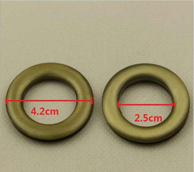 (20 개/몫/lot) 공장 직접 수하물 핸드백 하드웨어 액세서리 내경 2.5cm 링 아일렛 체인 링크 구멍