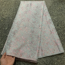 New Design Organza Lace African French Lace Fabric High Quality Nigerian Tulle Jacquard Brocade Lace Fabric For Party ZP083-9
