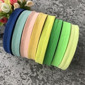 Эластичная лента для тесьмы, матовая цветная лента для обшивки, отделка из кружева, однотонный головной убор ручной работы, декоративные по...