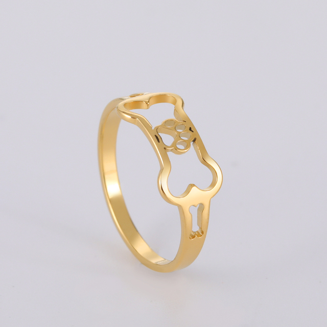 Dog Rings Gold Color  4
