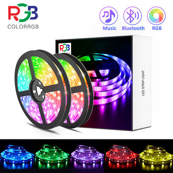 LED Strip Light ,RGB 5050/SMD2835, Flexible Ribbon, DIY Led Light Strip RGB  Tape Diode DC 12V Phone app bluetooth 1