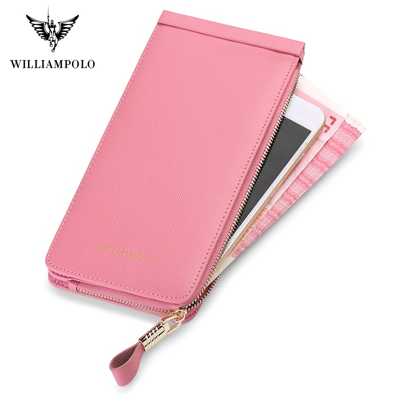 WilliamPolo New Product Long Wallet Multi-Card Holder Simple Large-Capacity Card Holder Women's Wallet Bank Card Holder P266 Women Women's Bags Women's Wallets