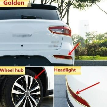 Car Decorative Strip Wheel Protector Hub Sticker Rim Guard Anti Decorative Rubber Auto Car Strip Styling Scraping V0H5 image