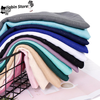 women glitter viscose hijab scarf Solid color shimmer muslim scarves wrap long muslim voile Islamic plain scarves/scarf 12pcs dozen mix color classic round solid magnet brooch hijab accessories muslim magnetic pin hijab scarf buckle magnet