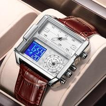 2021 LIGE New Men Watch Top Brand Luxury Waterproof Quartz Square Watches For Men Sports Date Clock Male Relogio Masculino+Box