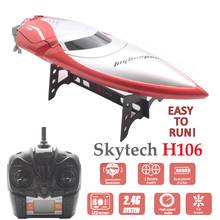 цена на Skytech H106 RC Boats High Speed Remote Control Electric Boat Rc Ship Toys Boot 180 Degree Flip Speedboat Barco Rc Racing Boat