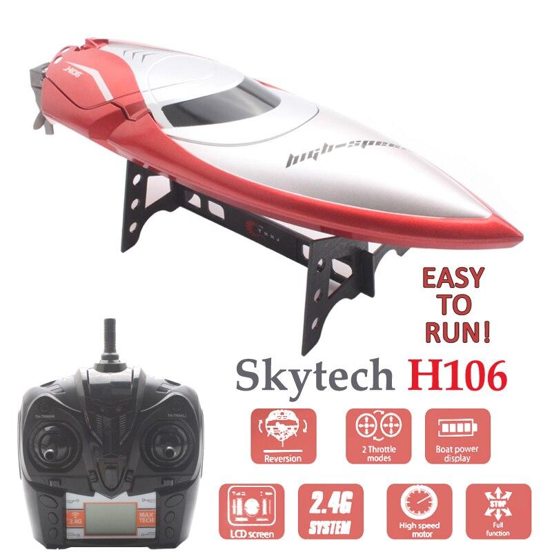 Skytech H106 RC bateaux haute vitesse télécommande bateau électrique Rc bateau jouets démarrage 180 degrés Flip hors bord Barco Rc bateau de course-in Bateaux télécommandés from Jeux et loisirs    1
