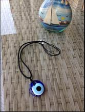 Amulet Turkey Blue Eye Glass Pendant Necklace Devils Evil Adjustable Womens Jewelry Sweater Chain