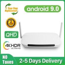 Leadcool Q9 Android 9.0 TV Box 4K Amlogic S905W Quad Core 2G 16G QHD Smart tv Box 2.4G Wifi 1G 8G Set top Box