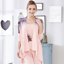 Women's Home service Suits Women Long johns Pajamas Set Pajamas for lady Linen Pajamas