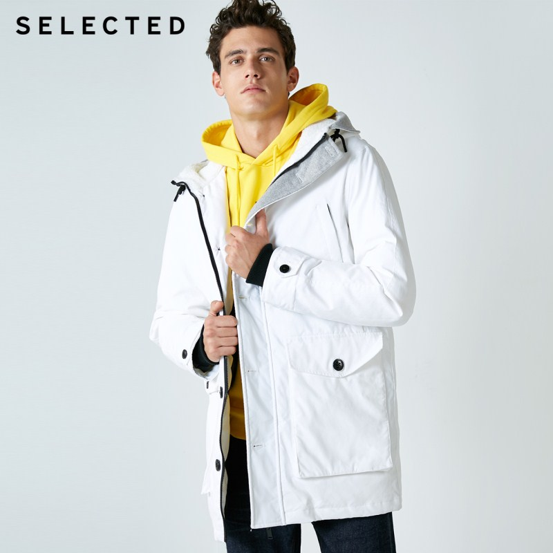 SELECTED New Down Jacket Duck Down Clothes Hooded Big Pocket Leisure Warm Male Down Coat S | 418412504