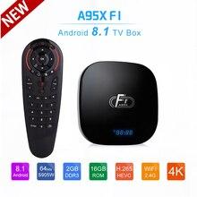 안드로이드 8.1 TV 박스 A95X F1 2 기가 바이트 16 기가 바이트 Amlogic S905W tv 박스 쿼드 코어 2.4G 와이파이 4K 3D 미디어 플레이어 PK X96 미니 스마트 TV 박스