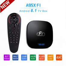 Android 8.1 TV Box A95X F1 2GB 16GB Amlogic S905W tv box Quad Core 2.4G WiFi 4K 3D Media Player PK X96 mini Smart TV Box