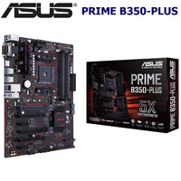 Am4 100% novo asus prime B350-PLUS placa-mãe amd b350 ddr4 64 gb pci-e 3.0 m. 2 desktop b350 mainboard cpu amd ryzen soquete am4