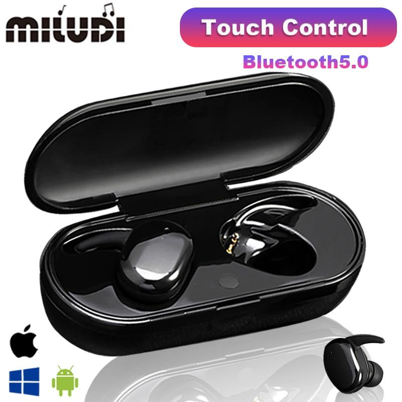 Y30 tws sem fio fones de ouvido bluetooth controle toque esporte fone microfone à prova dwaterproof água música funciona em todos os smartphones Fones de ouvido    -
