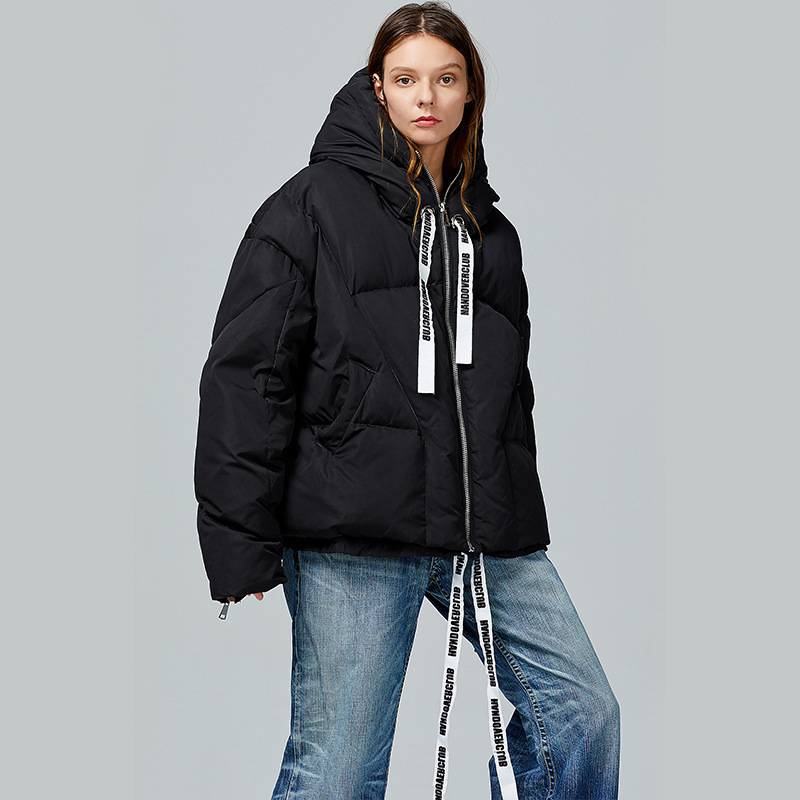 Oversize Warm Winter Down Jacket Fashion Oterwear Thin Down Jackets Womens Long Sleeve White Duck Down Coat Women's Outerwear