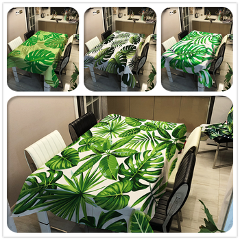 Green Leave Tablecloths Waterproof Kitchen Items Coffee Table For living Room Home Decor Dining Table Nappe De Table Rectangulai