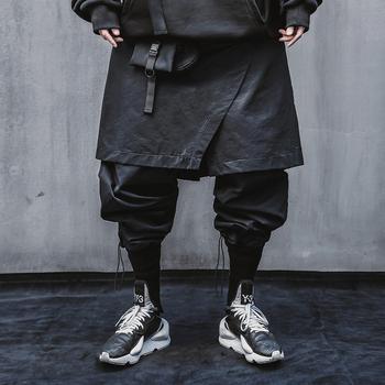 Mężczyźni Techwear Joggers japońska moda uliczna moda czarne spodnie tanie i dobre opinie Hyweacvar Cztery pory roku Spodnie do biegania CN (pochodzenie) POLIESTER Daily elegancki Mieszkanie NONE REGULAR 29 53 - 31 10