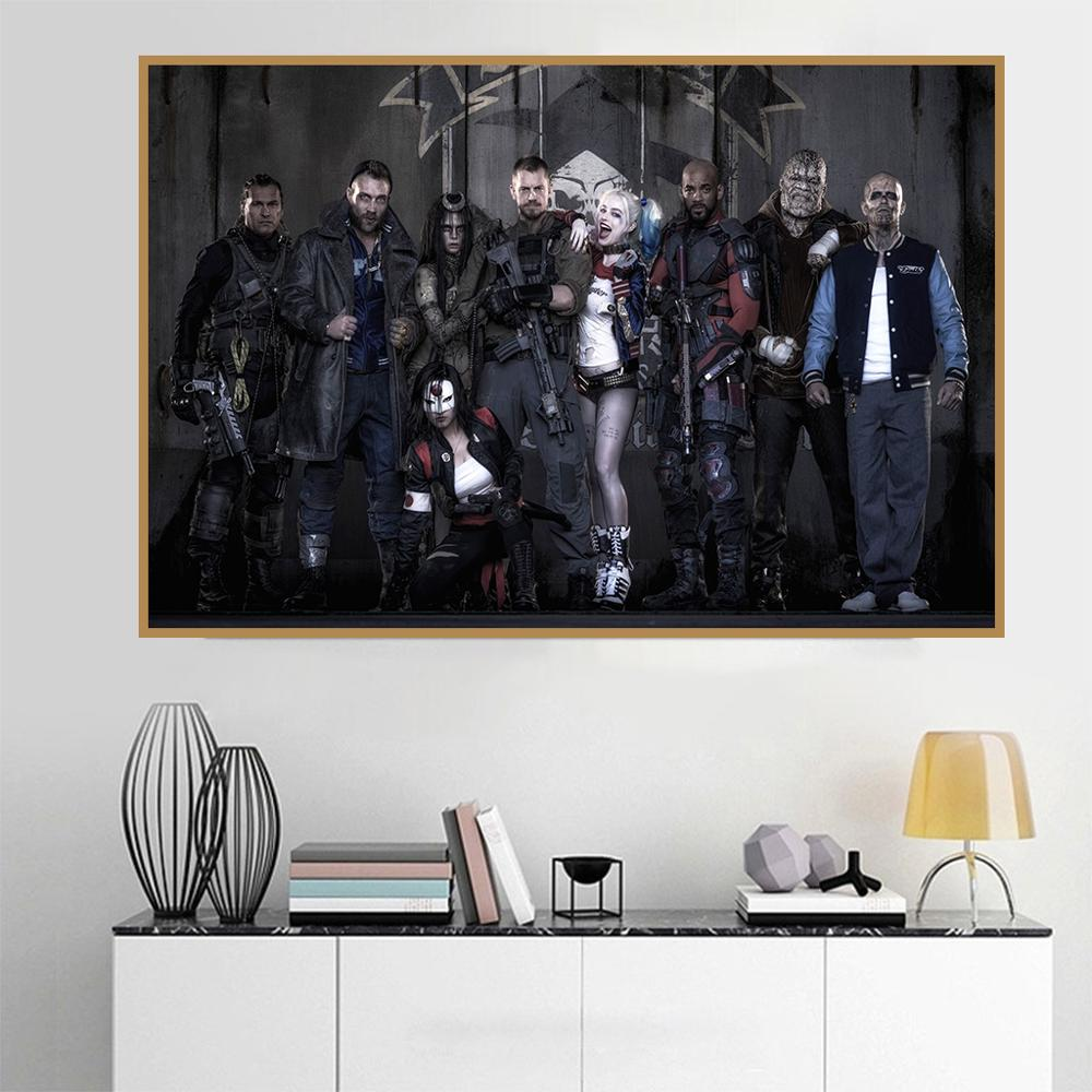 Harley Quinn Batman Superheroes Comic Canvas Poster Art Prints 8x12 24x36 inches
