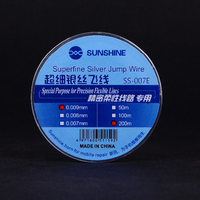 Ultra-fine Silver Wire Fly Line 0.007mm Superfine Silver Jump Wire Precision Flexible Circuit Dedicated SS-007E Phone Repair
