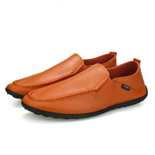 Men Shoes Leather Loafers Casual Shoes Men Flats 2019 Moccasins Soft Slip on For Men Loafers Driving Shoes Male Yasilaiya цена
