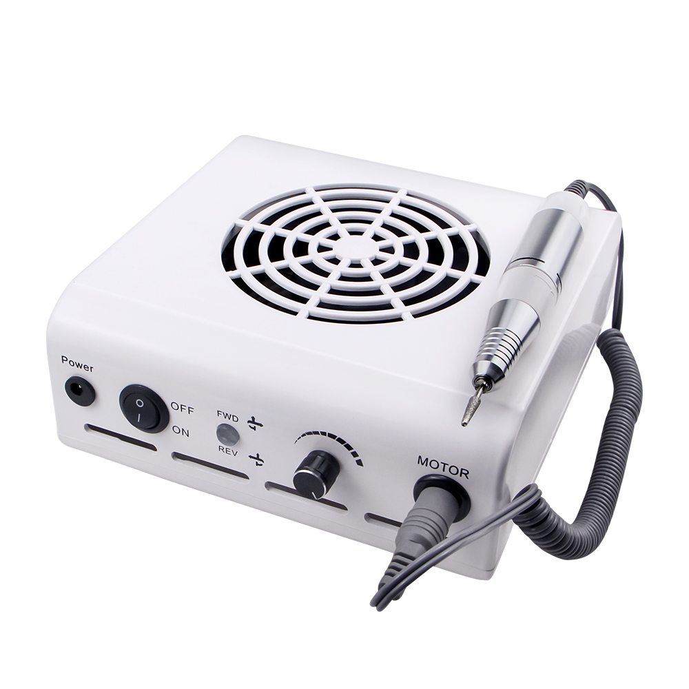 80W 2-IN-1 35000RPM Nail Drill Machine & Nail Vacuum Cleaner Manicure With Powerful Fan Manicure Pedicure Nail Tools