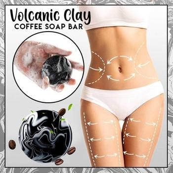 Volcanic Cla Coffee Slimming Soap Bar Skin Whitening Body Clear Anti Prevents Skin Sagging 100% Safe Dropshipping ZJXM2 1/2 Pcs 1