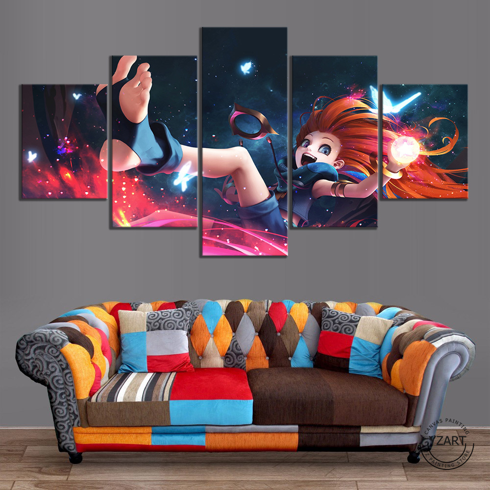 Art LOL Skin Zoe Poster HD Wall Picture League of Legends Video Games Art Canvas Paintings Wall Art Home Decor 1