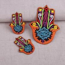 Nova chegada mão bordado remendos applique ferro em jeans ou sacos de costura suprimentos remendos decorativos