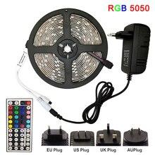 LED Strip Light RGB 5050 SMD 2835 Flexible Ribbon fita led light strip RGB 5M 10M 15M Tape Diode DC 12V+ Remote Control +Adapter hml 5m smd 5050 rgb ribbon light