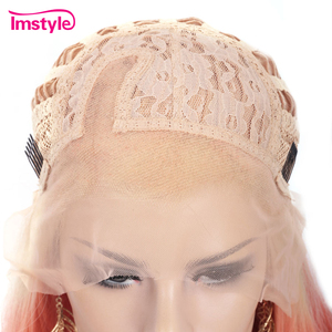 Image 5 - Perruque Lace Front Wig synthétique rouge ombré Imstyle
