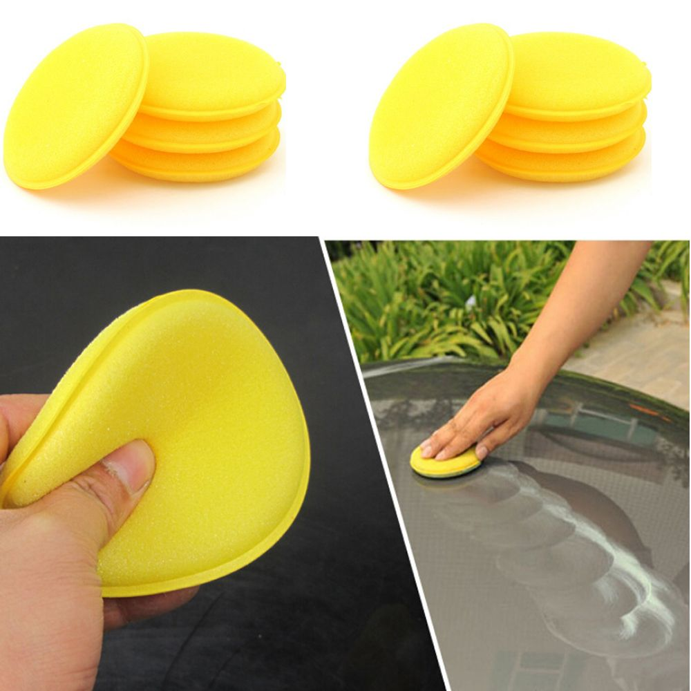 12 Pcs/lot Car Wash Wax Sponge Pad Auto Body Coating Waxing Polishing Applicator Detailing Interior Care Sponge Pads Tool