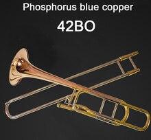 New Arrival Professional 42BO Bb Tenor Trombone Phosphorus bronze Copper B Flat Trombone High Quality Musical Instruments